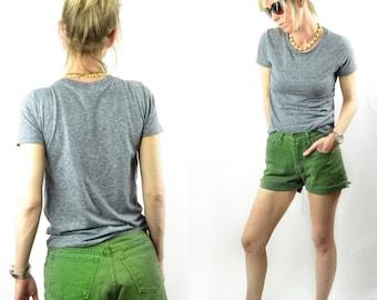 1980's Esprit Green Denim Cut Off Shorts