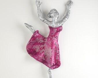 Dancer Sculpture - Metal art sculpture -  wall art - woman dancing - wall hanging - Dancer art