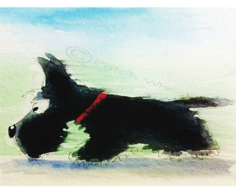 Scottish Terrier Dog Art Print Scottie Dog