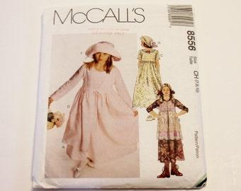 Sewing Pattern McCall's 8556: Girls Dress, Tunic, and Hat (UNCUT) Sizes 7,8,10