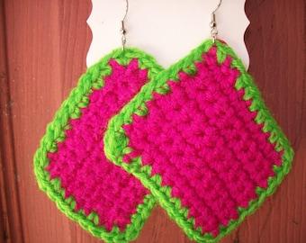 Pink/Green Granny squares