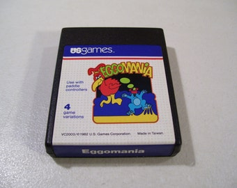 Vintage Atari 2600 US Games Eggomania Video Game Cartridge, 1982