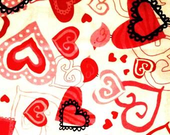 "Decorative Hearts Pillow Set - 10"" X 10"""