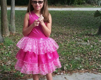 Happy Birthday Barbie Princess Pink Pageant Dress or Costume for Girls