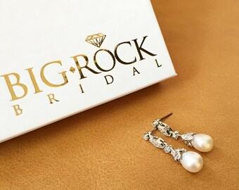 Wedding Earrings - Pearl Teardrop Earrings - BEST SELLER