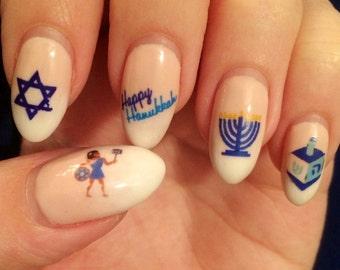 Chanukah / Hannukah Nail Decals