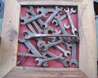 Rusty Tool Box, Garage, Industrial Wrench Wall Art 3D