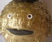 Chic Golden Monster Celebrate Good Times Pinata