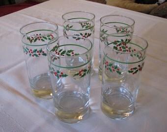 Christmas Beverage Glasses