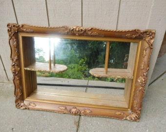 Vintage Wall Mirror/Shadow Box