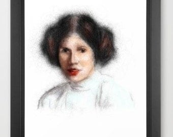 Princess Leia INSTANT DOWNLOAD - Star Wars, mother's day, gift, original episodes, presents, the force, nerd, geeky gifts, fan, buns