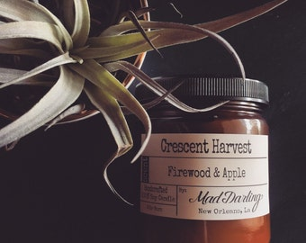 Crescent Harvest - Firewood & Apple Soy Candle