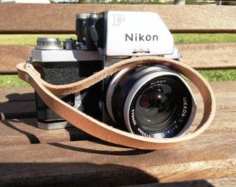 Camera Straps, Leather Camera Strap, Camera Wrist strap, Customized Personalized For Canon, Nikon, Leica, Olympus, Panasonic, Yashica Etc