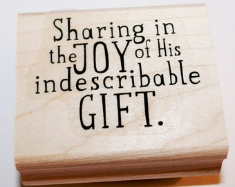 Sharing In The Joy Rubber Stamp from Stampin Up