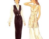 Style Dress Pattern 2367 - Misses' V-Neck Double Breasted Dress or Vest in Two Lengths and Wide Leg Pants - Sz 8 thru 18