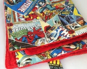 Ready to Ship!...Baby Travel Change Pad...Comic Book Superhero with Minky...Shower Chic