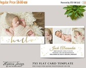 SALE Birth Announcement Template , Photography 7x5in Template for Adobe Photoshop, sku ba16-4