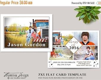SALE Senior Graduation Card ,Photoshop Template,Photography Template , Photo Card Template,sku gr16-3