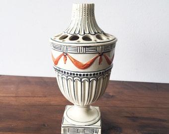 Neoclassical Creamware Flower Frog/Vase