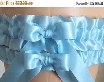 Sale Wedding Garters, Bridal Garters, Bridal Shop Garters, Prom Garters, Blue Garters