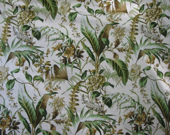 Schumacher Mediterranee  Tropical French Hand Print in Bamboo
