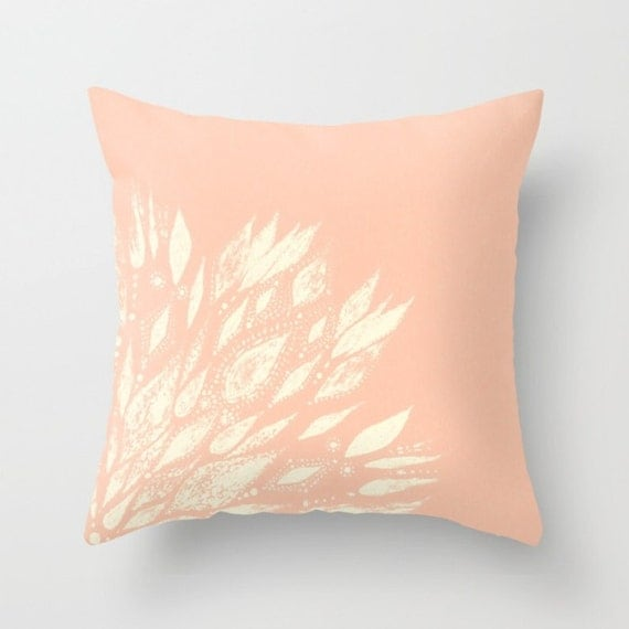 Blush Pink Decorative Pillow : Blush Pink Flower Throw Pillow Cover pink throw pillow by lake1221