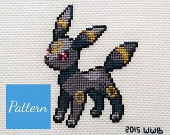 Umbreon (Pokemon) Cross Stitch Pattern