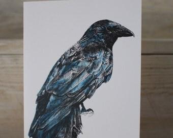 Blank Crow Greeting Card