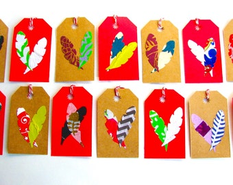 Bohemian Feather Gift Tag Pack of 14