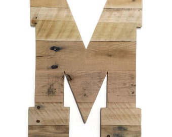 reclaimed wooden letter, Rustic Home Decor,  pallet letter, rustic wedding decor,  rustic wood letter, pallet wall art, pallet wood, letter