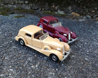 Hot Wheels Classic 35 Caddy Red with WW tires and Tan, BW both loose