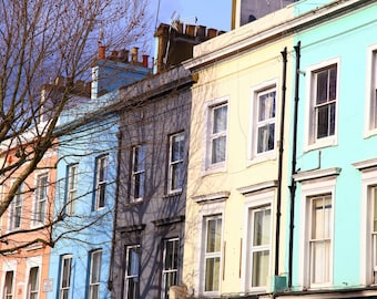 Notting Hill, Coloured Houses, Victorian Terrace, Fine Art Photograph, Photography, London, England, UK, Photographer, Alison Zak-Collins