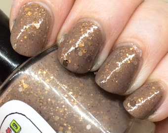 Toast Nail Polish - brown and gold neutral