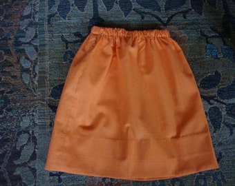 Sixties Orange Mini Skirt With Elastic Waist