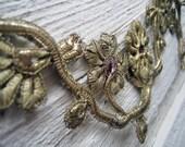 Antique Metallic Flower Trim (Ref: A-3624 Box 1)