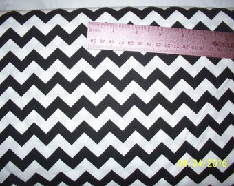 black chevron fabric