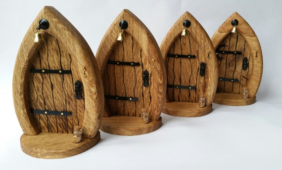 Fairy door wooden fairy door minatures for by cottagecoppicing for Wooden fairy doors