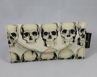 Rad Skulls in Natural Wallet