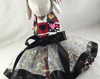 Be My Valentine- Reversible Dog Dress