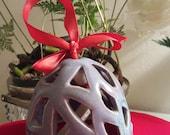 Judith Duff Wood Fired and Shino Ceramics Handmade Ceramic Bell Ornament