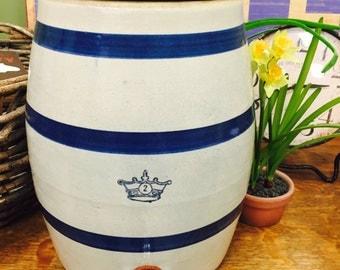 Primitive Vintage Robinson Ransbottom Water Cooler Pottery