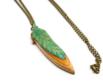 Skateboard Wood, Feather Necklace, Recycled Skateboard, Wood Jewellery, Wooden Pendant, Handmade Necklace, Wooden Jewelry, Hand Crafted