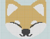 Shiba Inu Little Cross Stitch Easy 3 Colors Japanese Style PDF