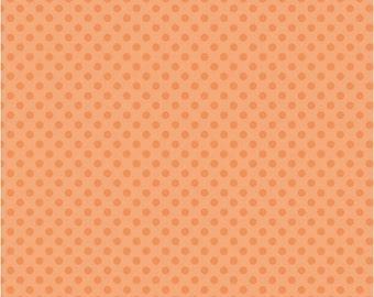 SALE 1/2 Yard Riley Blake Small Dots in Orange Tone Fabric
