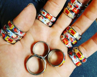 Kitch Religious Ring/ stainless steel