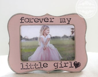 Gift for Daughter Forever My Little Girl Birthday Gift Personalized Picture Frame Engagement Graduation Gift for Daughter From Mom Dad