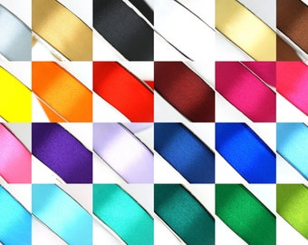"25 Yard Satin Ribbon Rolls in 24 Colors - Select Size: 1/4"", 3/8"", 1/2"", 5/8"", 3/4"", and 1"""
