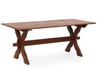 PRICE REDUCED Antique American Scrubbed Pine Farm Table, 20th Century, 603DEX10P
