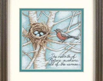 Cross Stitch Kit - Robin's Nest