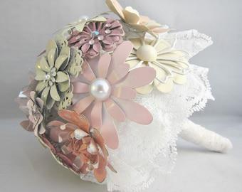 NEW EXCLUSIVE PRICE | Brooch Bouquet | Enamel Flower Bouquet | Pink Brooch Bouquet | Vintage Brooch Bouquet